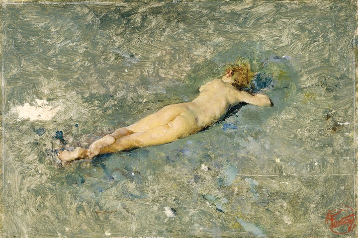 Nude Boy on the Beach at Portici (1874), Mariano Fortuny. Museo Nacional del Prado, Madrid