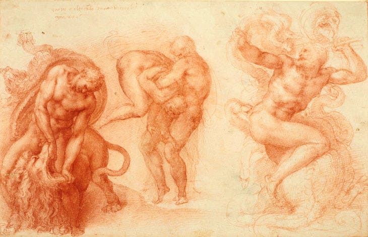 Three Labours of Hercules (1530–33), Michelangelo. Royal Collection Trust / © Her Majesty Queen Elizabeth II 2017