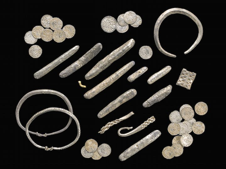Selection of pieces from the Watling Hoard. © Trustees of the British Museum