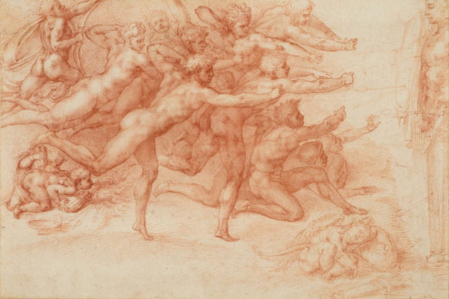 Archers Shooting at a Herm (1530–33), Michelangelo. Royal Collection Trust / © Her Majesty Queen Elizabeth II 2017