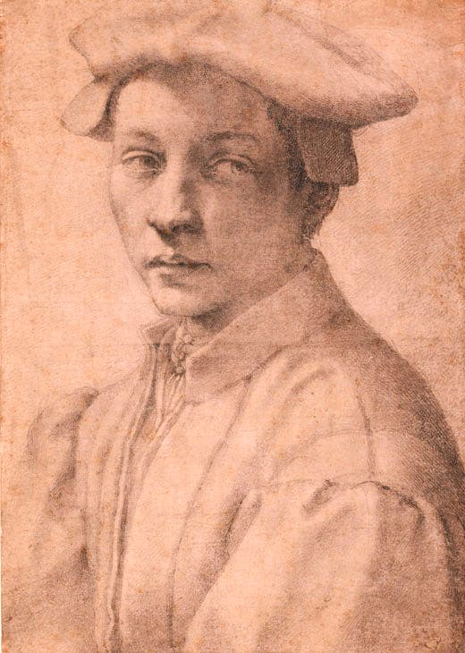 Portrait of Andrea Quaratesi (1532), Michelangelo. The British Museum, London