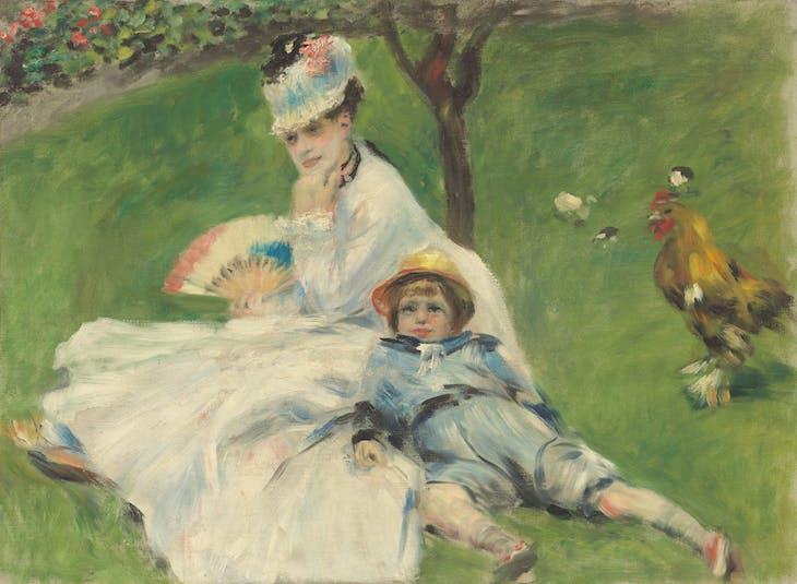 Mme Monet et son fils Jean dans le jardin à Argenteuil