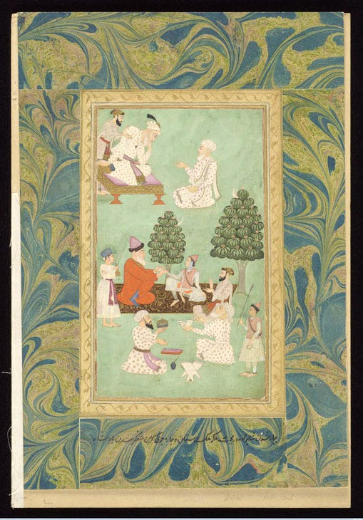Above, the emperor Aurangzeb consults a physician; below, one of the emperor's sons is attended by physicians. Courtesy of Wellcome Library, London