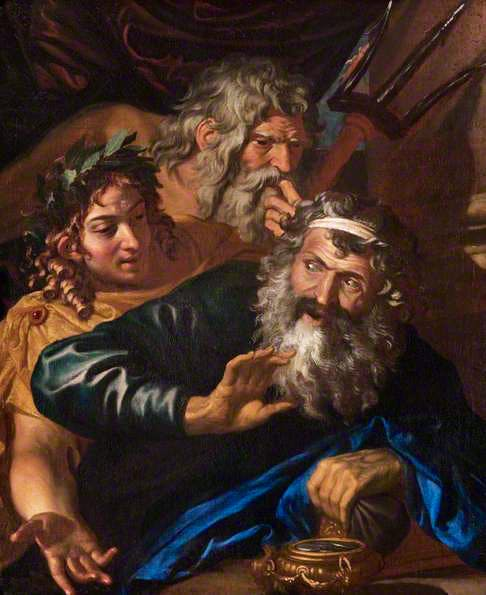 Laomedon Refusing Payment to Poseidon and Apollo (17th century), artist unknown. The Hunterian, University of Glasgow