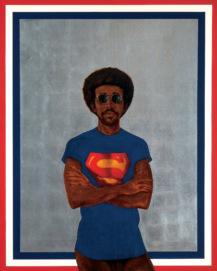 Icon For My Man Superman (Superman Never Saved Any Black People-Bobby Seale) (1969), Barkley L. Hendricks. © Estate of Barkley L. Hendricks. Courtesy of Jack Shainman Gallery, New York