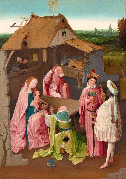 The Adoration of the Magi (early 16th century), Hieronymus Bosch. Philadelphia Museum of Art, John G. Johnson Collection. Post-conservation image, 2015