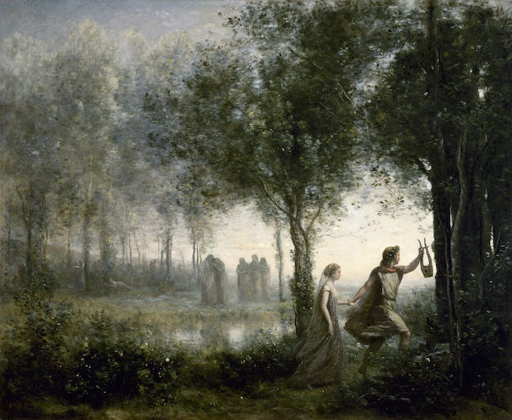 Orphée ramenant Eurydice des enfers (1861), Camille Corot. The Museum of Fine Arts, Houston