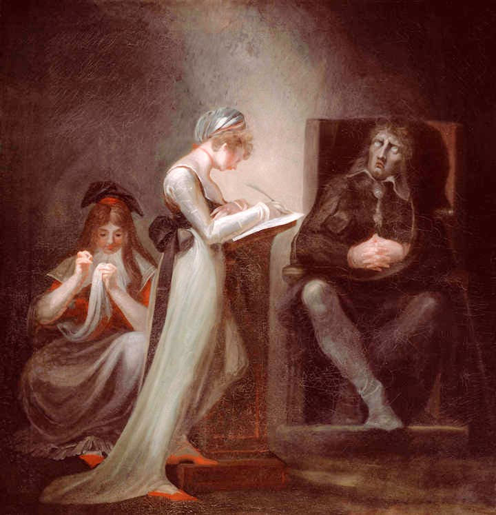 Milton Dictating to His Daughter (1794), Henry Fuseli. Courtesy of The Art Institute of Chicago