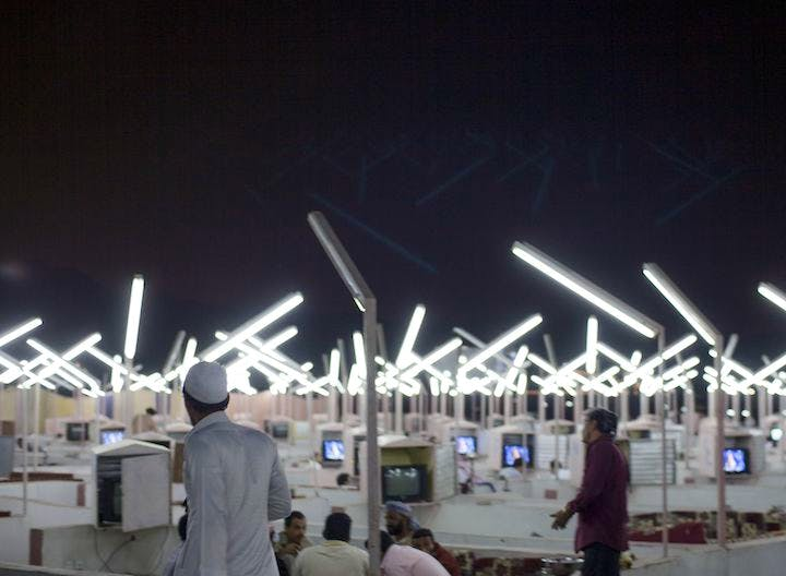 Neon Café (2012), Ahmed Mater. Courtesy of the artist. © Ahmed Mater