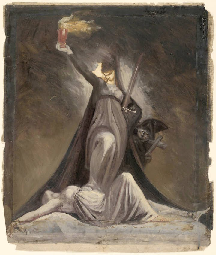 Study for Inquisition, Illustration to Columbiad (c. 1806), Henry Fuseli. Courtesy of The Art Institute of Chicago