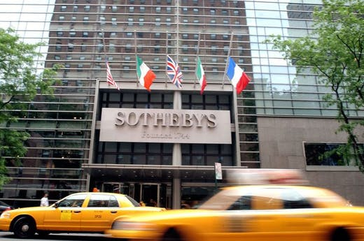Sotheby's, New York, in June 2004. Photo: Stephen Chernin/Getty Images