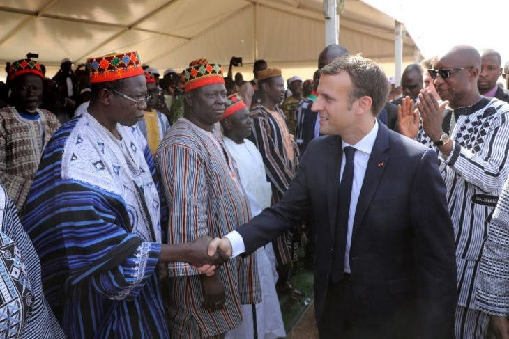 Emmanuel Macron in Burkina Faso