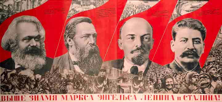Raise Higher the Banner of Marx, Engels, Lenin and Stalin! (1933), Gustav Klutsis. The David King Collection at Tate