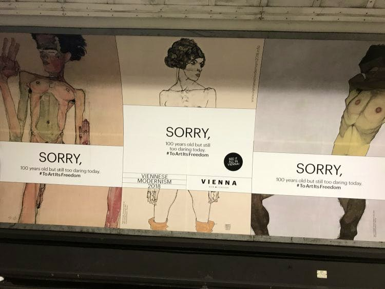 A sorry state: Schiele on the Underground
