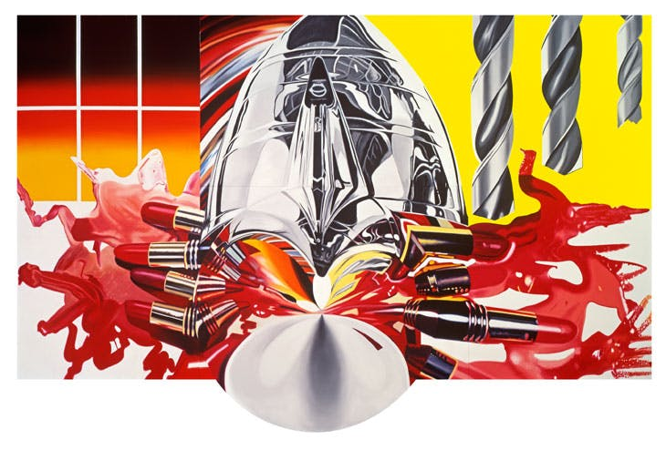 The Swimmer in the Econo-mist (Painting 3) (1997–98), James Rosenquist. © Estate of James Rosenquist/VG Bild-Kunst, Bonn, 2017 Photo: Courtesy of the Estate of James Rosenquist