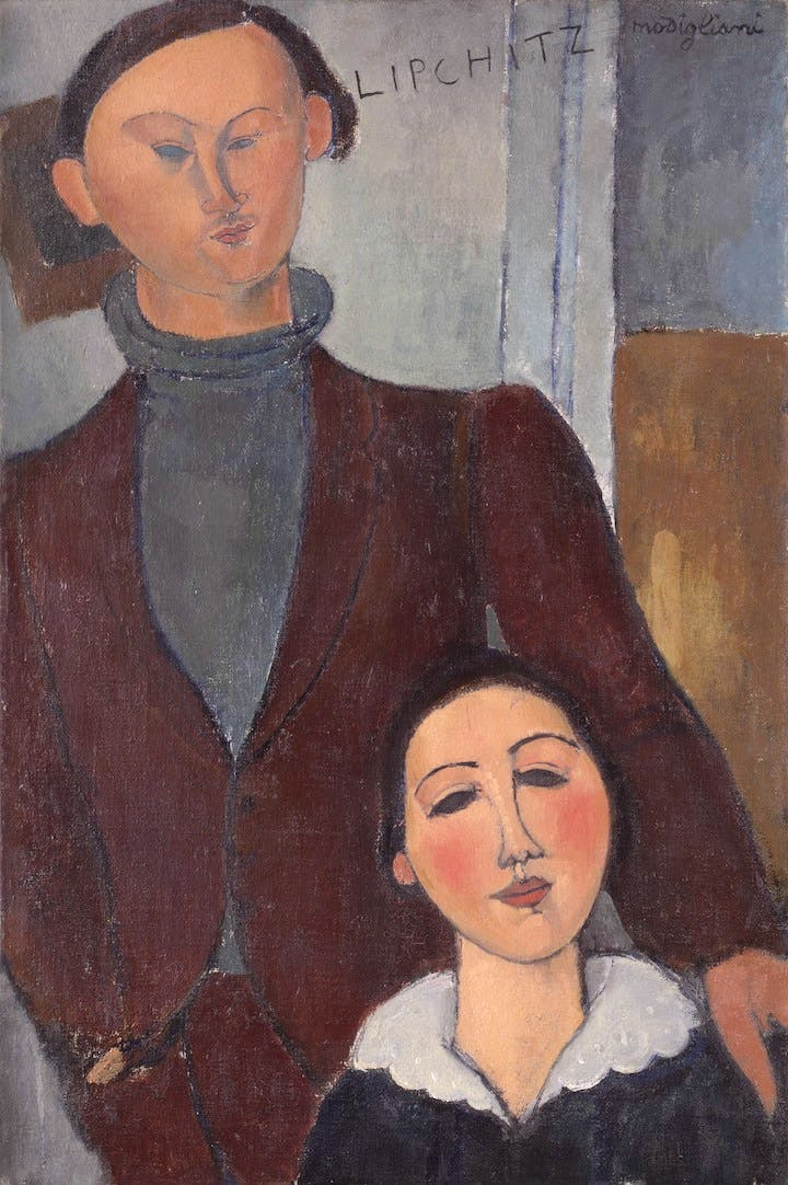 Jacques and Berthe Lipchitz (1916), Modigliani. The Art Institute of Chicago