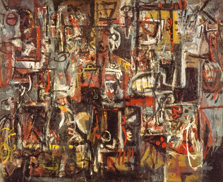 Jingling Space (1950), Alan Davie. National Galleries of Scotland © The Estate of Alan Davie