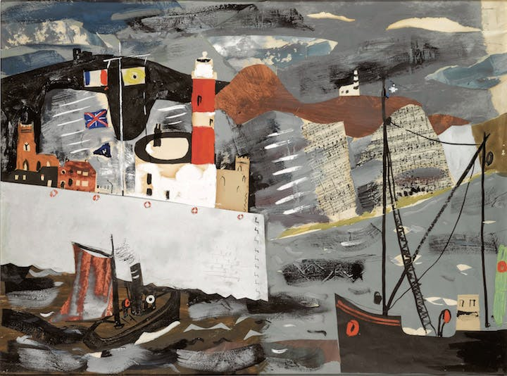 Harbour Scene, Newhaven (1936–37), John Piper. © The Piper Estate / DACS 2017. Image courtesy: Private Collection