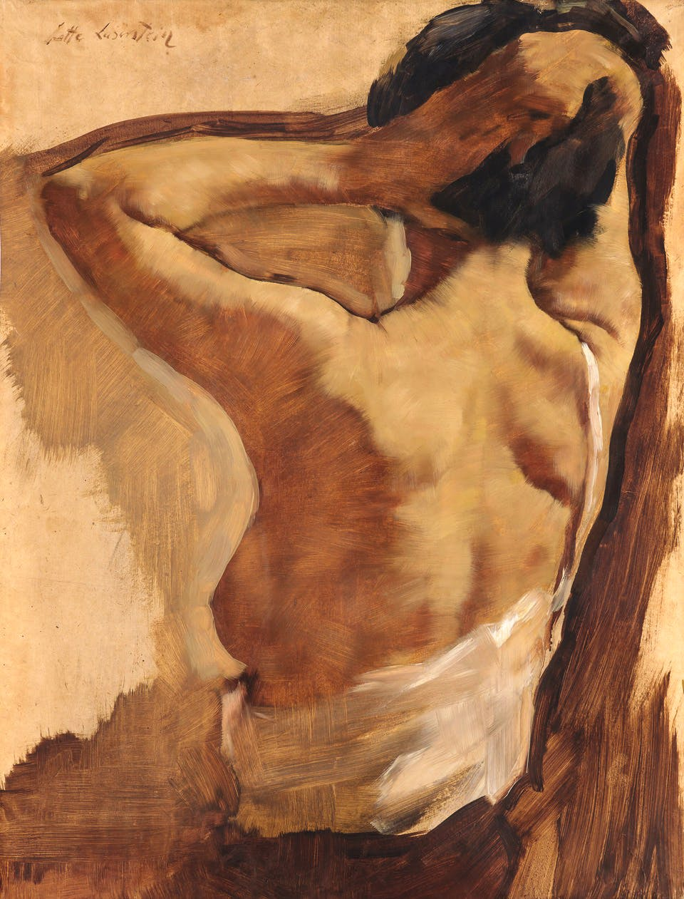 Rear Nude with Raised Arms (1930s), Lotte Laserstein.
