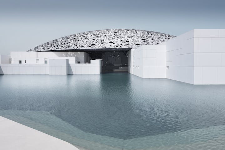 Louvre Abu Dhabi's exterior. © Louvre Abu Dhabi, Photography: Mohamed Somji