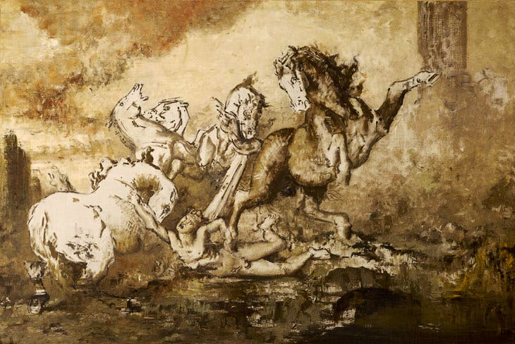 Diomedes devoured by his Horses (date unknown), Gustave Moreau. © RMN-Grand Palais / René-Gabriel Ojéda
