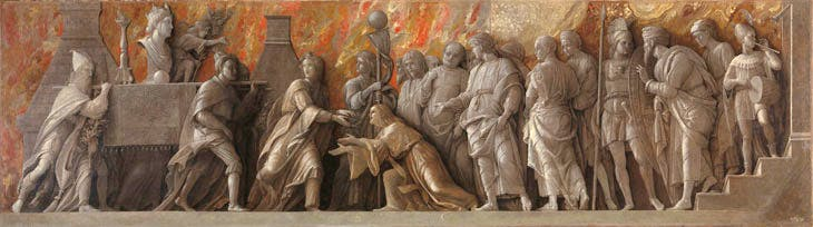 The Introduction of the Cult of Cybele at Rome (1505–06), Andrea Mantegna. © The National Gallery, London