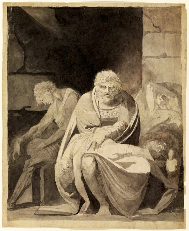 Ugolino and His Sons Starving to Death in the Tower (1806), Henry Fuseli. Courtesy of The Art Institute of Chicago