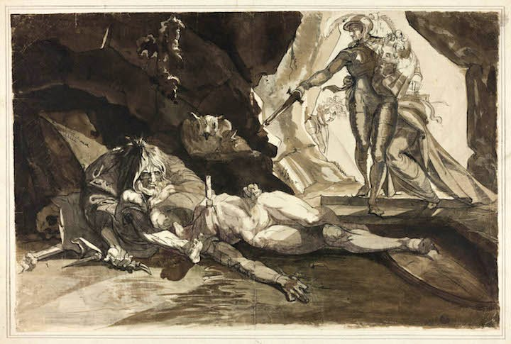 The Cave of Despair (c. 1769), Henry Fuseli. Courtesy of The Art Institute of Chicago