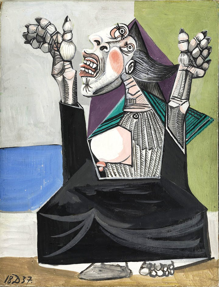 La Suppliante (1937), Pablo Picasso. Musée National Picasso, Paris © Succession Picasso 2017