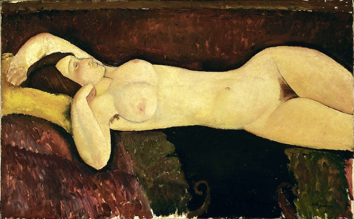 Reclining Nude (1919), Modigliani. Museum of Modern Art, New York