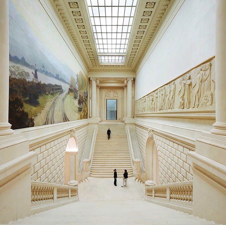 Main staircase in the 19th-century Palais of the Musée d'arts de Nantes. Photo: © Hufton + Crow
