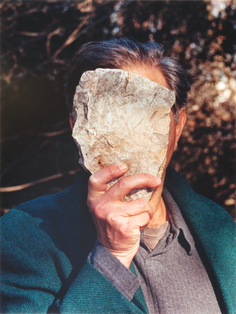 Self-portrait pretending to be a stone statue of myself. (2006), Jimmie Durham, Collection of fluid archives, Karlsruhe, Courtesy of ZKM Center for Art and Media, Karlsruhe