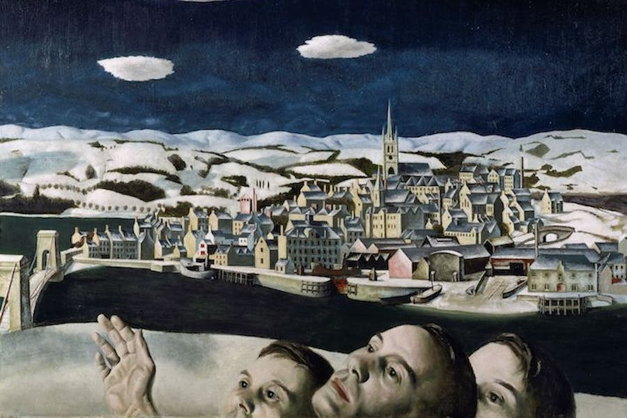 Unidentified Aircraft (over Montrose) (1942), Edward Baird. Courtesy Glasgow Museums © Graham Stephen