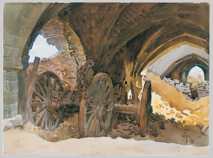 Wheels in Vault (1918), John Singer Sargent.