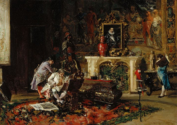 Engraving Collector (1863), Mariano Fortuny. Museum of Fine Arts, Boston