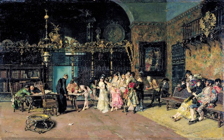 The Spanish Wedding (c. 1868–70), Mariano Fortuny. Museu Nacional d ́Art de Catalunya