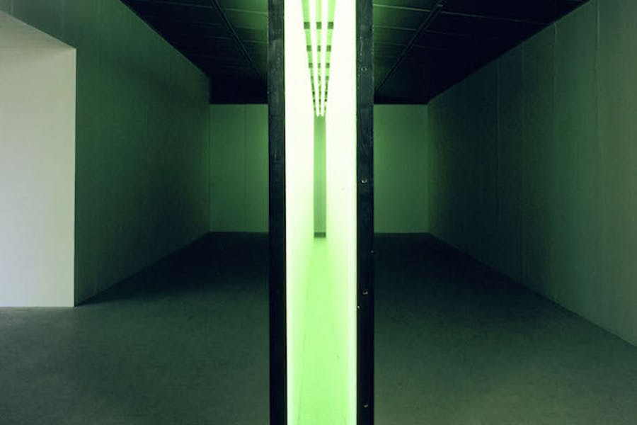 Green Light Corridor (1970), Bruce Nauman. Courtesy Solomon R. Guggenheim Museum