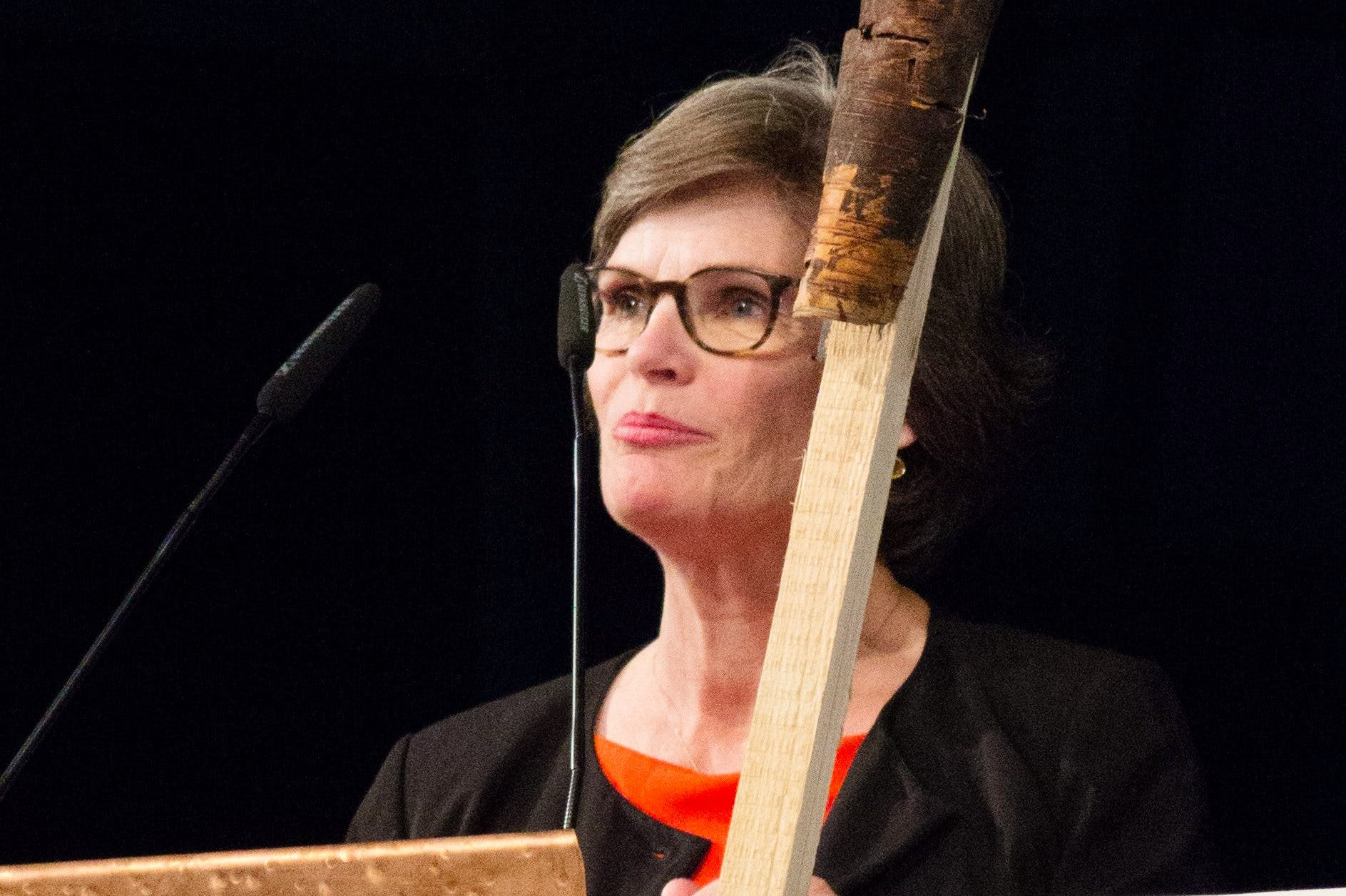 Annette Kulenkampff, CEO of Documenta, at a conference in Kassel