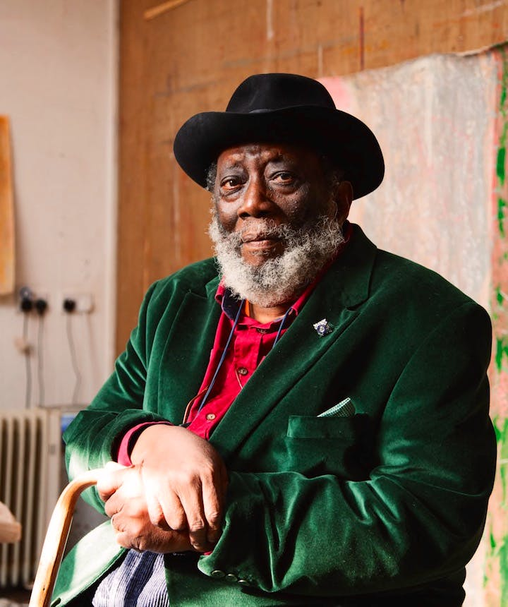 Frank Bowling. Photograph: Alastair Levy