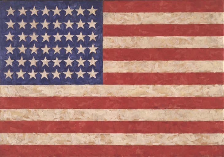 Flag (1958), Jasper Johns. Private collection.