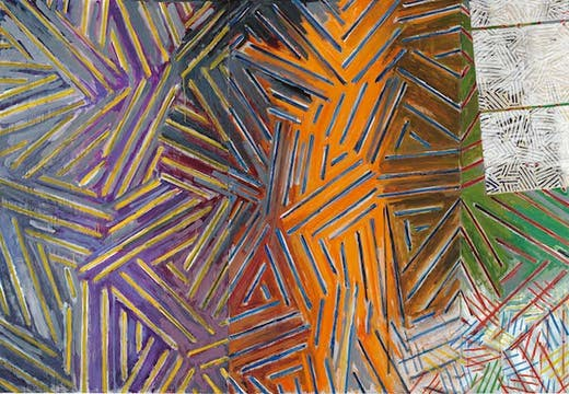 Between the Clock and the Bed (1981), Jasper Johns.