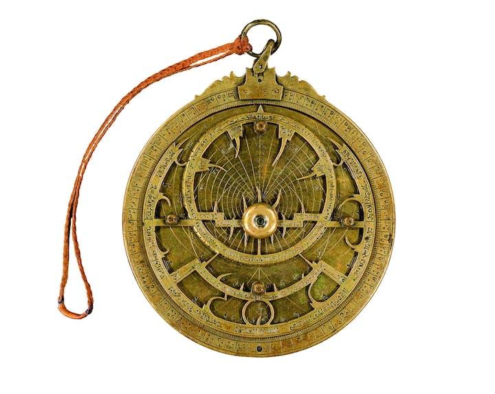 Astrolabe, 1029, Muḥammad Ibn-aṣ-Ṣaffār. Staatsbibliothek zu Berlin