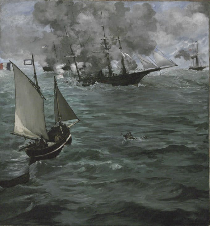 The Battle of the U.S.S. 'Kearsarge' and the C.S.S. 'Alabama' (1864), Édouard Manet. Philadelphia Museum of Art, John G. Johnson Collection