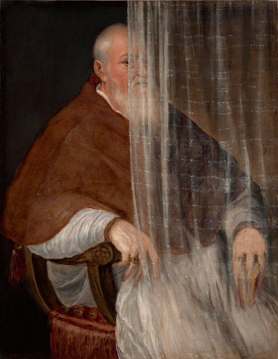 Portrait of Archbishop Filippo Archinto (1558), Titian. Philadelphia Museum of Art, John G. Johnson Collection. Post-conservation image, 2017