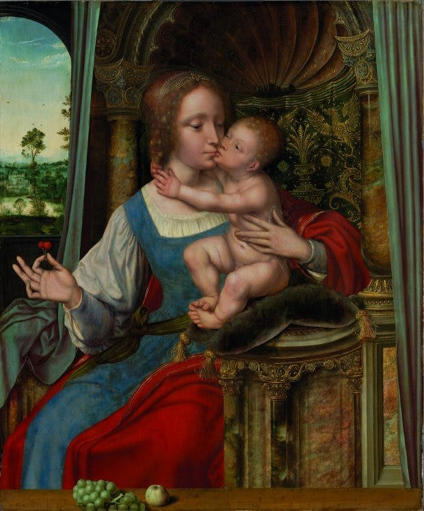 Madonna and Child, , (c. 1525–30), Quinten Massys (and/or studio).