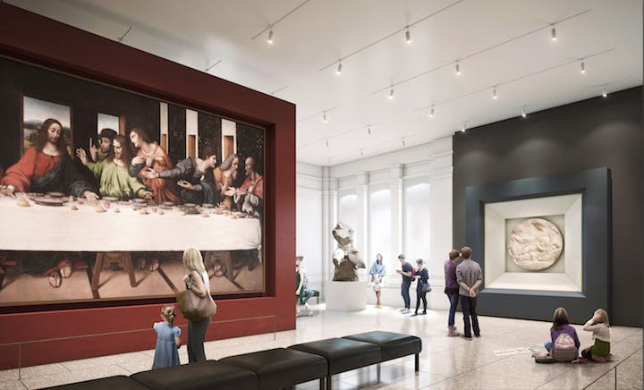 Rendering of the Collection Gallery, opening 2018. © Hayes Davidson