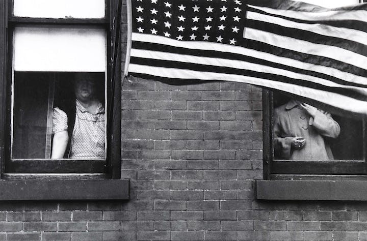 Hoboken (Parade) (1955), Robert Frank. Courtesy of the Nelson-Atkins Museum of Art