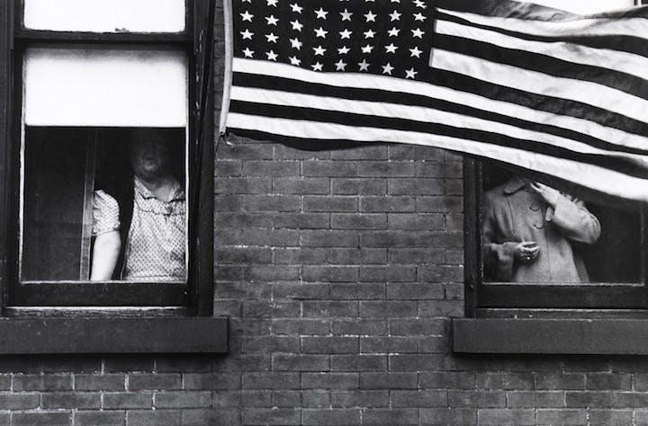 Hoboken (Parade) (1955), Robert Frank. Courtesy of the Nelson-Atkins Museum of Art