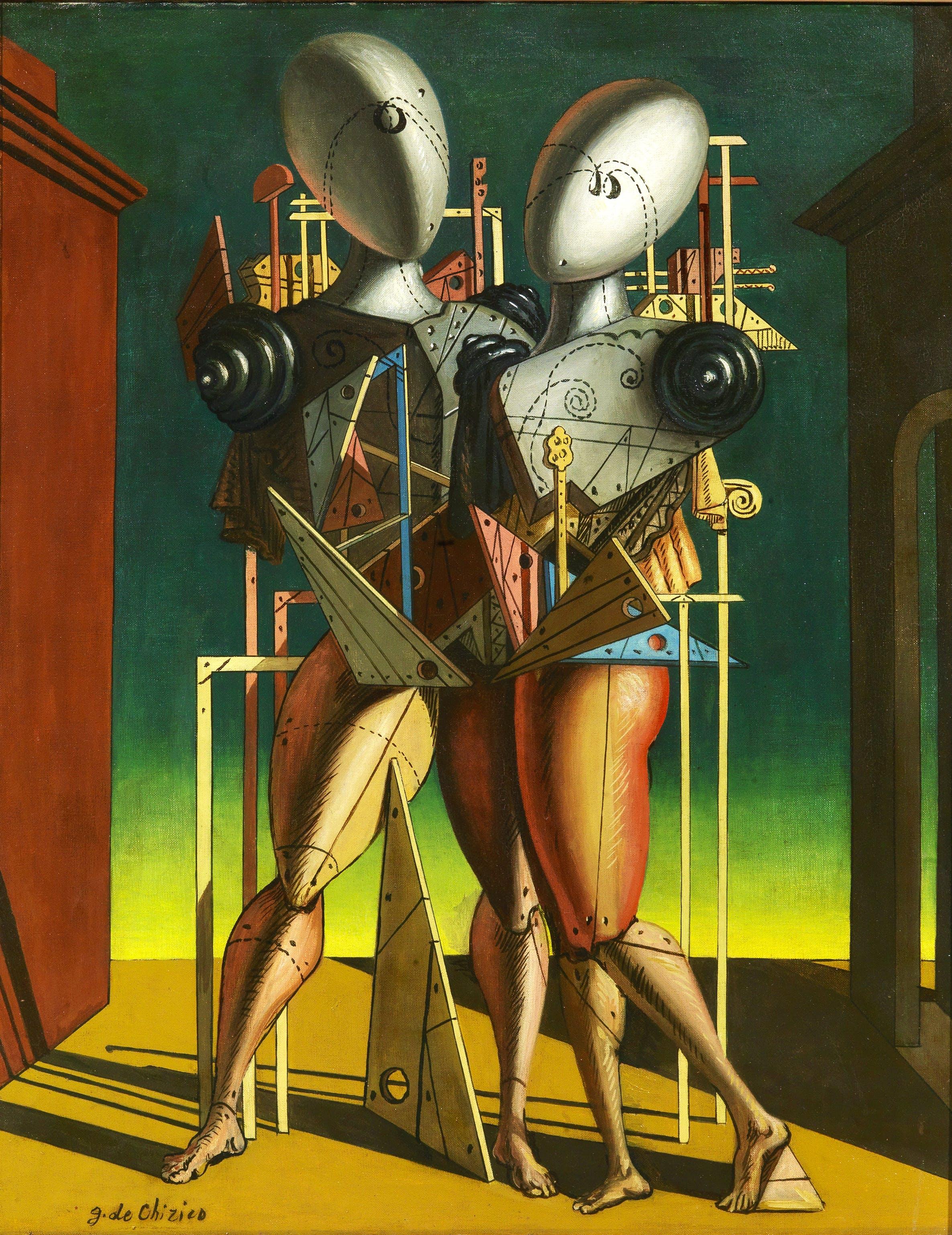 Ettore e Andromaca, (1963), Giorgio de Chirico, courtesy Tornabuoni Art