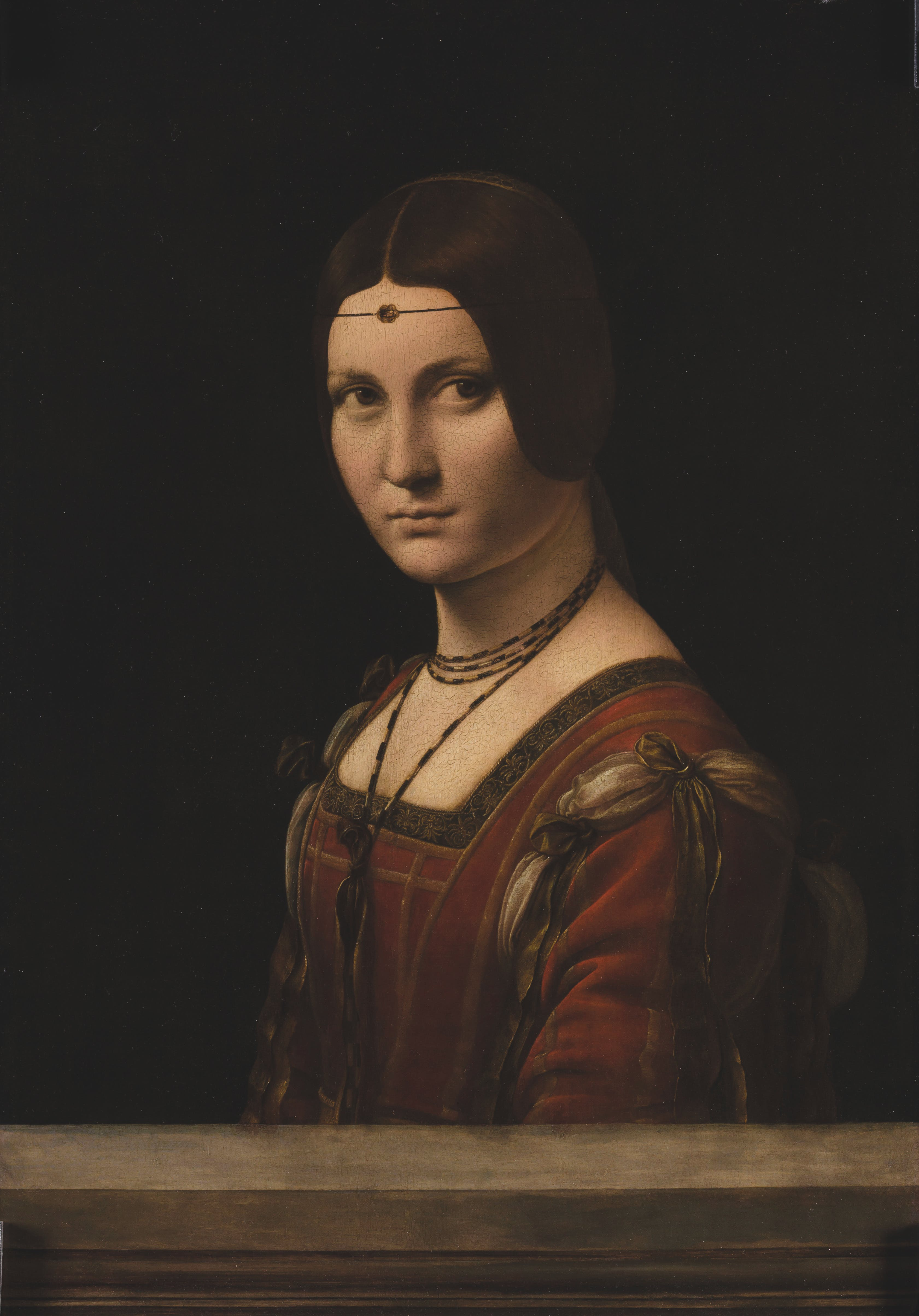 La Belle Ferronnière, (1495–99), Leonardo da Vinci, Musée du Louvre, Paris